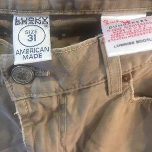 Lucky Brand low rise boot leg  31 waist 33 inseam